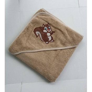 Полотенце для новорожденного с капюшоном Белочка фото 1
