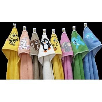 Полотенце для новорожденного с капюшоном Белочка фото 3