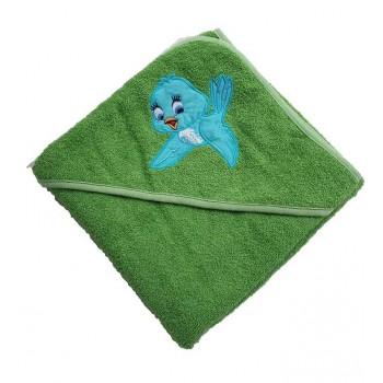 Детское полотенце с уголком Птичка