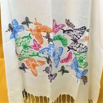 Полотенце пештемаль Разноцветные Бабочки