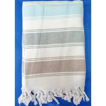Полотенце пештемаль для хамама и пляжа махровое Прибой