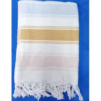 Полотенце пештемаль для хамама и пляжа махровое Лаура