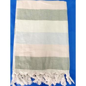 Полотенце пештемаль для хамама и пляжа махровое Андрия