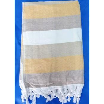 Полотенце пештемаль для хамама и пляжа махровое Данира