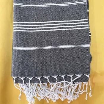 Полотенце пештемаль для хамама и пляжа Графит