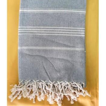 Полотенце пештемаль для хамама и пляжа Туман