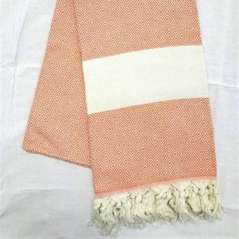 Полотенце пештемаль для хамама и пляжа Персик