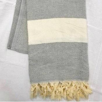 Полотенце пештемаль для хамама и пляжа Ликос 100х180