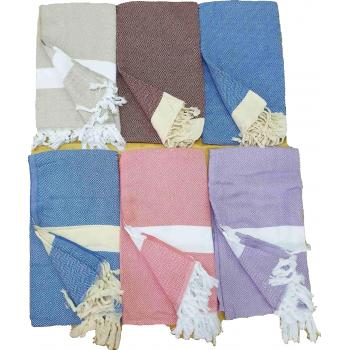 Полотенце пештемаль для пляжа и хамама 100x180 Турция 16621 фото 1