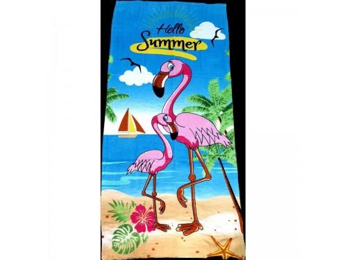 Пляжное полотенце Фламинго на море 16277 от Zeron в интернет-магазине PannaTeks