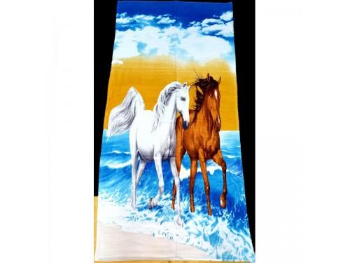 Пляжное полотенце ЛОШАДИ 16321 от Zeron в интернет-магазине PannaTeks