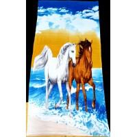 Полотенце пляжное ЛОШАДИ