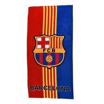 Полотенце для пляжа FC Barcelona красно-синее