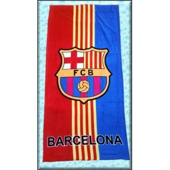 Полотенце для пляжа FC Barcelona красно-синее фото 1