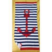 Пляжное полотенце КРАСНЫЙ ЯКОРЬ