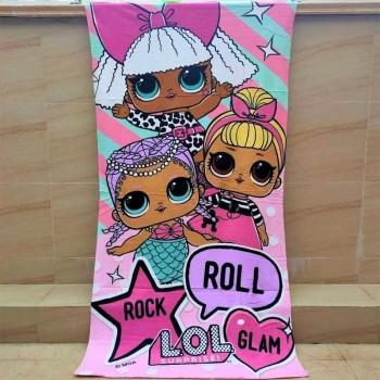 Пляжное детское полотенце Куклы ЛОЛ Турция