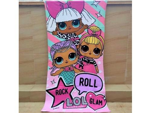 Пляжное детское полотенце Куклы ЛОЛ Турция 17579 от Zeron в интернет-магазине PannaTeks
