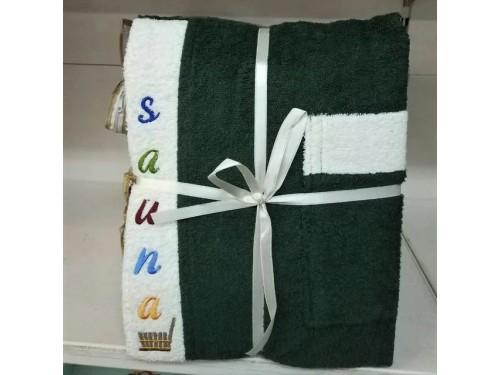 Мужской набор для сауны махровый зеленый Турция 13630 от Zeron в интернет-магазине PannaTeks