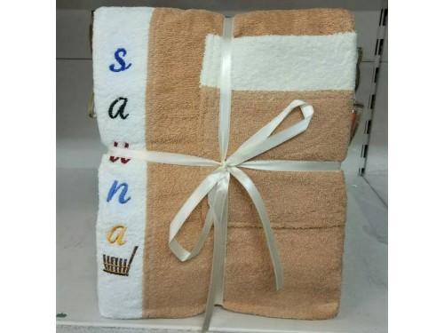 Мужской набор для сауны махровый бежевый Турция 13632 от Zeron в интернет-магазине PannaTeks