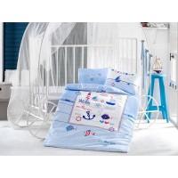 Детское постельное белье в кроватку Sailing Fish ранфорс Aran Сlasy Турция