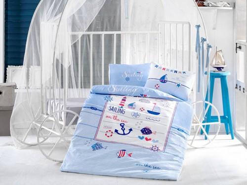 """Постельное белье в кроватку ранфорс """"SAILING FISH"""" 14040 от Aran Сlasy в интернет-магазине PannaTeks"""