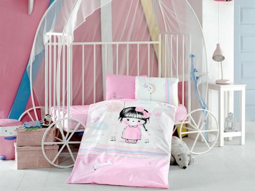 """Постельное белье в кроватку ранфорс """"ARIEL"""" 14042 от Aran Сlasy в интернет-магазине PannaTeks"""