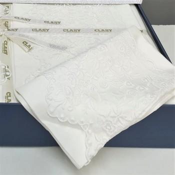 Однотонное постельное белье сатин с кружевом GIZA V1 ARAN CLASY Турция фото 2