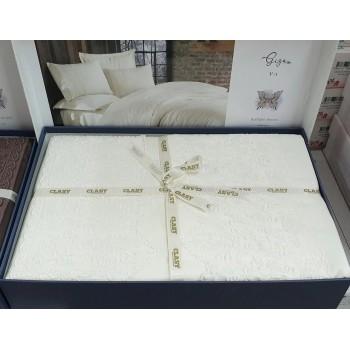 Однотонное постельное белье сатин с кружевом GIZA V1 ARAN CLASY Турция фото 1