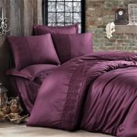 Комплект постельного белья сатин с кружевом GIZA V5 ARAN CLASY
