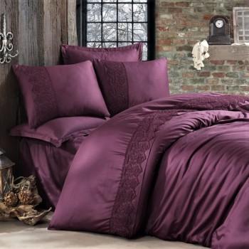 Комплект постельного белья сатин с кружевом GIZA V5 ARAN CLASY 16517 от Aran Сlasy в интернет-магазине PannaTeks
