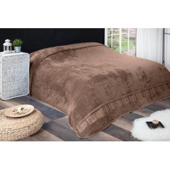 Махровая бамбуковая простынь покрывало Agac Desen Турция коричневый, евро 200х220