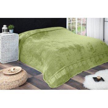 Махровая бамбуковая простынь покрывало Agac Desen Турция зеленый, евро 200х220