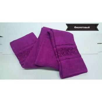Простынь махровая хлопок фиолетовый