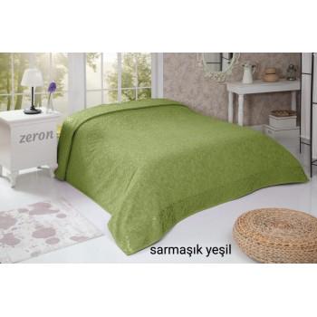 Простынь махровая хлопок оливковый SARMASIK DESEN