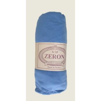 Простынь на резинке трикотажная синяя