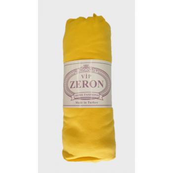 Простынь на резинке трикотажная желтая