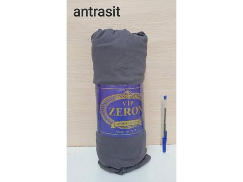Натяжная простынь на резинке трикотажная ANTRASIT темно-серая Турция Zeron 16871 от Zeron в интернет-магазине PannaTeks