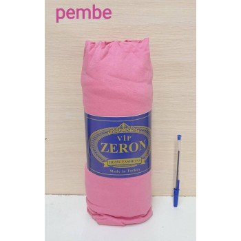 Трикотажная простынь на резинке PEMBE розовая Турция Zeron