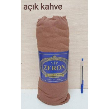 Простынь на резинке трикотажная ACIK KAHVE легкий кофе Zeron