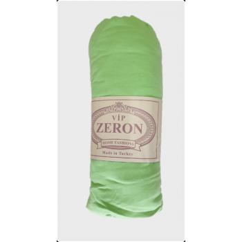 Трикотажная простынь с резинкой салатовая Турция Zeron