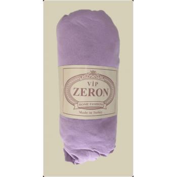 Простынь на резинке трикотажная сиреневая Zeron Турция