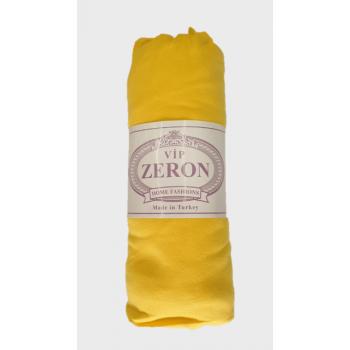 Трикотажная простынь на резинке GÜNES желтая Zeron Турция