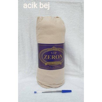 Трикотажная простынь с резинкой ACIK BEJ светло-бежевая Турция Zeron