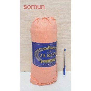 Трикотажная простынь на резинке SOMUN персиковая Турция Zeron