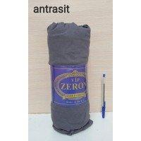 Натяжная простынь на резинке трикотажная ANTRASIT темно-серая Турция Zeron