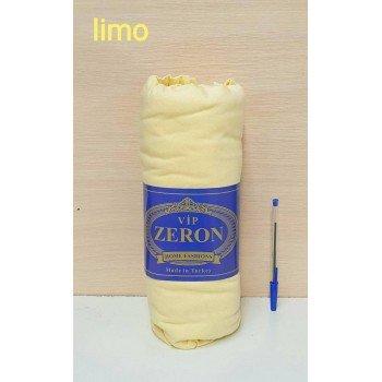Трикотажная простынь на резинке SARI лимонная Турция Zeron