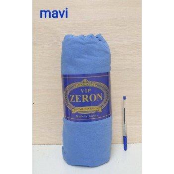 Трикотажная простынь на резинке Турция Zeron MAVI синяя