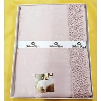 Скатерть розовая прямоугольная К.Д.К. PUDRA