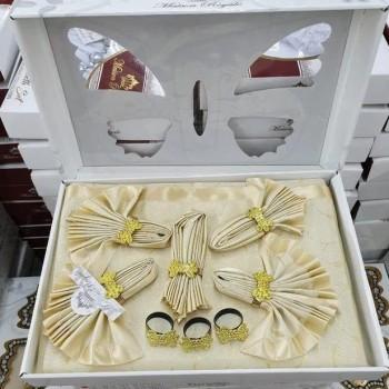 Скатерть с салфетками ROZALITE SET GOLD