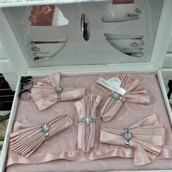 Скатерть с салфетками ROZALITE SET PUDRA